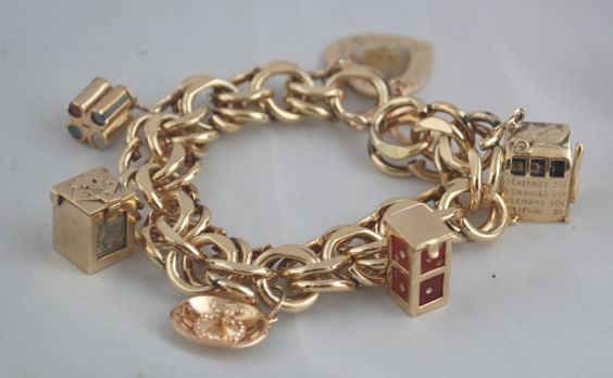 Hey, I found this really awesome Etsy listing at https://www.etsy.com/listing/193804267/the-gamblers-vintage-charm-bracelet