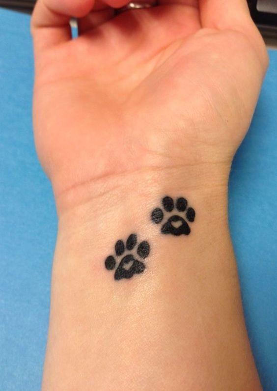 Tattoos Black Dog Paw Prints Dog Paws Print Tattoos Dogs Paw