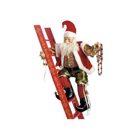 Animated Climbing Elf with Ladder - Frontgate - Christmas ...