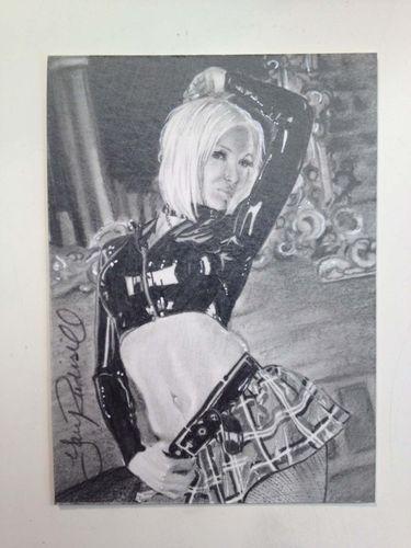 Susan Wayland Latex Graphite Original Art ACEO Sketch Card by Gary Rudisill   eBay