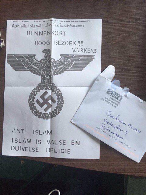 """Sadet Karabulut on Twitter: """"Zou @geertwilderspvv nu achter deze haatbrief aan islamitische gebedshuizen staan? Was getekend : anti islam. https://t.co/zJYg3CtqWL"""":"""