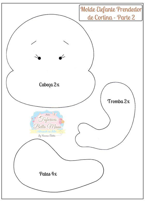 ELEFANTE PRENDEDOR DE CORTINA MOLDE 2:
