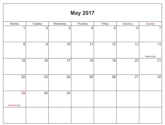 Download May Calendar  With Holidays  Calendar