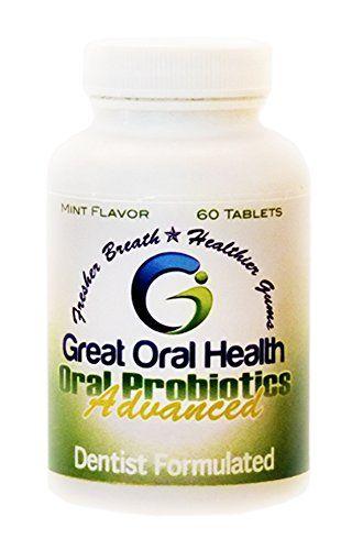 Advance Oral Probiotics - 60 Chewable Mint Tablets - Tackle Bad Breath - Boost Gum Health - 7 Powerful Strains of Advanced Probiotics Including Blis K12 Great Oral Health http://www.amazon.com/dp/B00KDQW1XU/ref=cm_sw_r_pi_dp_YLV1tb1H6PMHWZYS