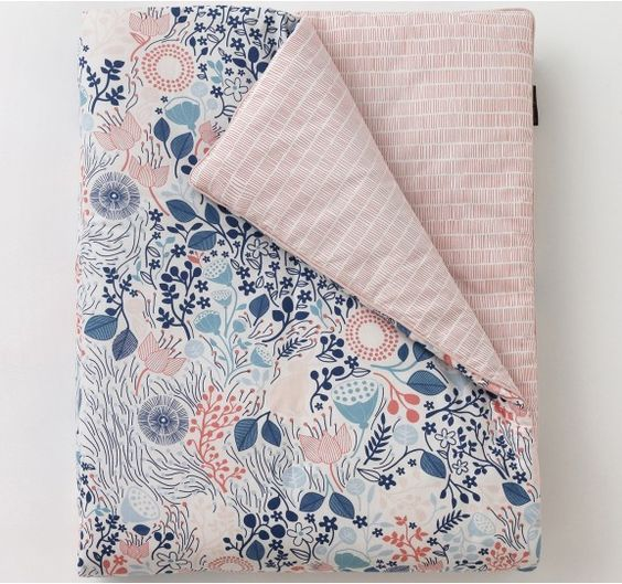 MEADOW POWDER BLUE PLAY BLANKET - Dwell Studios.  If I knew I was having a girl, I would love this!
