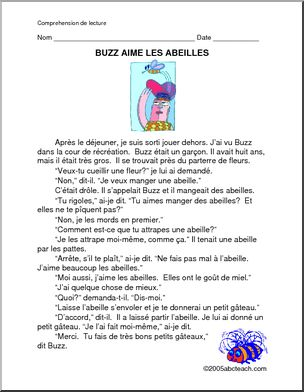 Grade 3 French Reading Comprehension Worksheets - Templates and ...