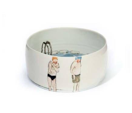 Helen Beard ceramics, swimmers