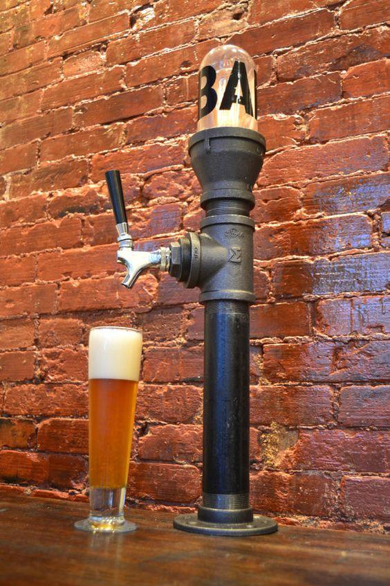 Beer Tower - Beer Tap - Light Fixture - Bar Light - tap handle - Steampunk…