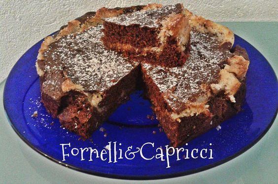 Fornelli&Capricci: Torta al cacao con cuore al cocco