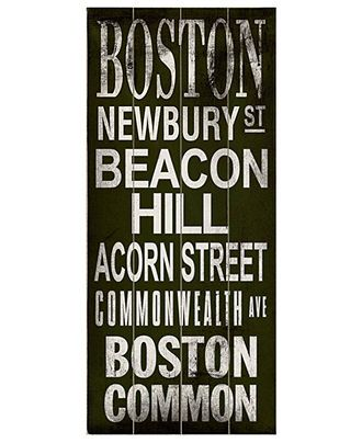 ArteHouse Wall Art, Boston Transit Sign - Wall Art - for the home - Macy's