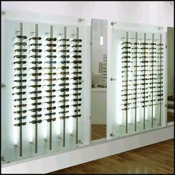 Locking Eyeglass Frame Displays : Optical display panels with back lighting and locking rods ...