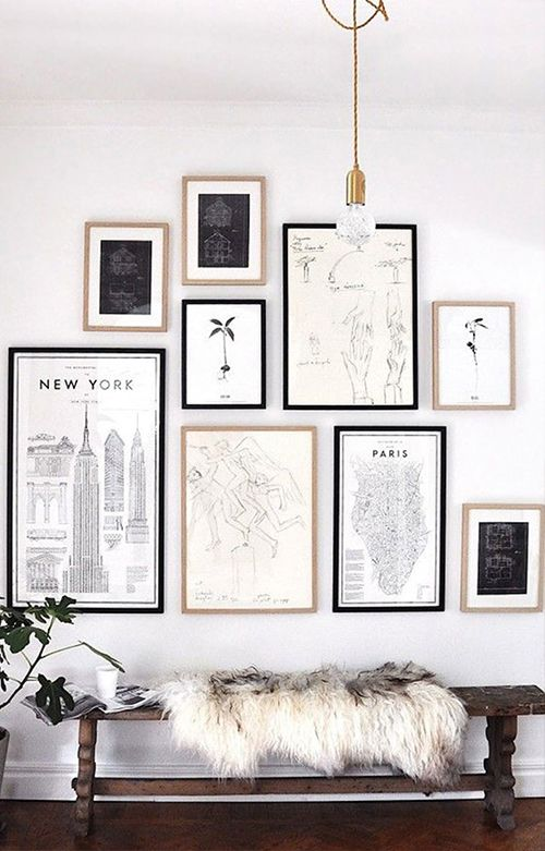 Monochromatic Wall In 2020 Gallery Wall Inspiration Living Room Art Wall Decor Living Room #photo #frames #living #room