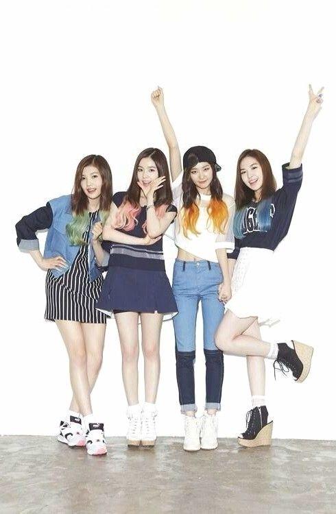 Red Velvet Happiness Joy Irene Seulgi Wendy Redvelvet Reveluv Kpop Happiness Debut Wanita Gadis Korea