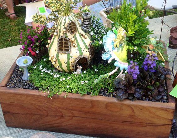 Miniature fairy garden in the box size of a shoe box Fairies