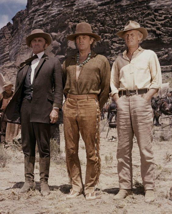 Kirk Douglas,Robert Mitchum and Richard Widmark - The Way West 1967