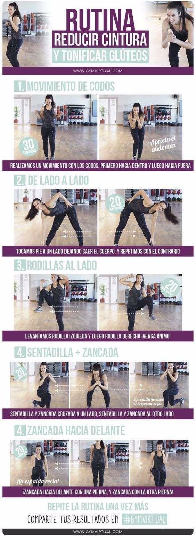 Tabla De Ejercicios Para Reducir Cintura In 2020 Fitness Body Workout Routine Fitness
