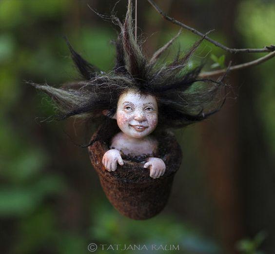 pixie girl Mitzka handmade decoration by chopoli on Etsy