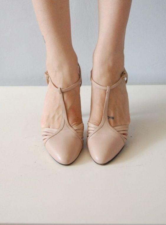 Vintage Nude Heels