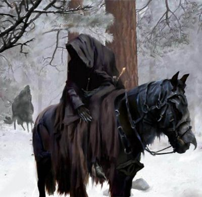 fantasy-art-engine:Ringwraith in the Snow by Monkeezgob