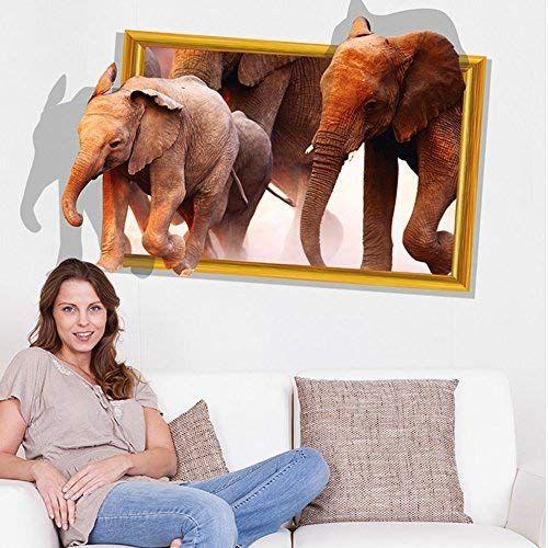 Elephant Living Room Decor Amazon Com Decoration Stickers Stickers Muraux Autocollant