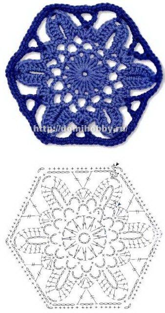 Crochet floral motivos: