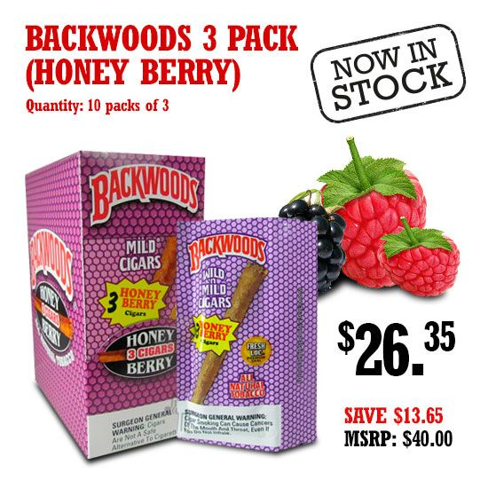 Backwoods Honey Berry 3 Pack Berries, Mouths and Nice