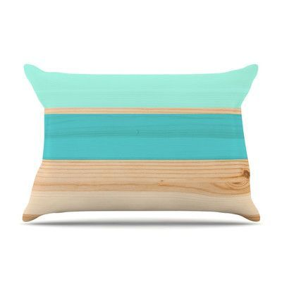KESS InHouse Spring Swatch - Blue Green by KESS Original Wood Featherweight Pillow Sham