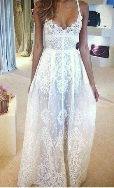 Vestido longo branco:
