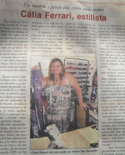 Blog de catiaferrari :Moda by Cátia Ferrari-criações e confecções, Publicação pelo jornal Via Amoreiras-campinas jan/2011