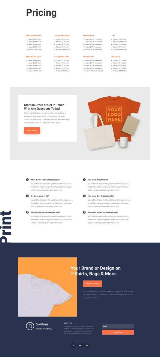 Screen Printing Website Screen Printing Layout Prints