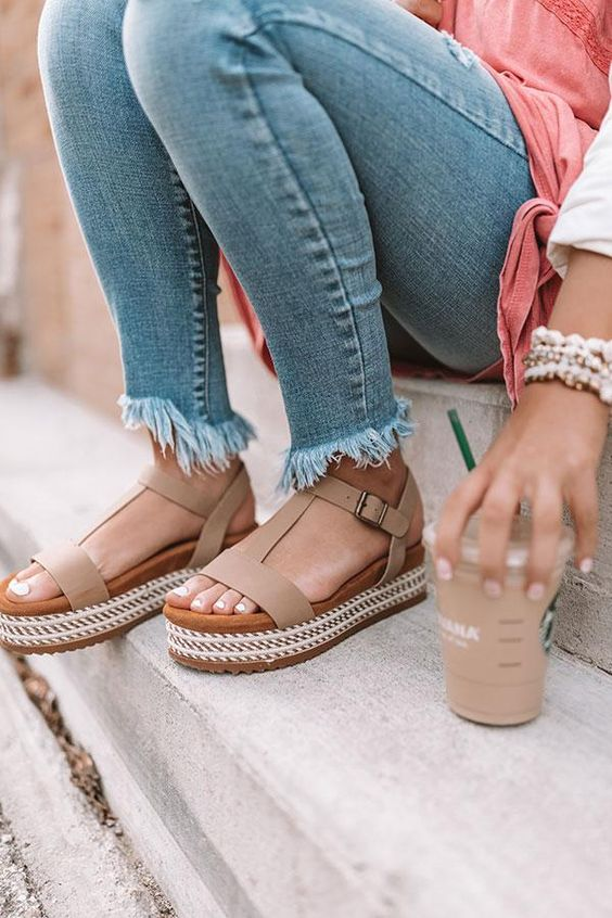 The Cassia Espadrille In Iced Latte • Impressions Online Boutique