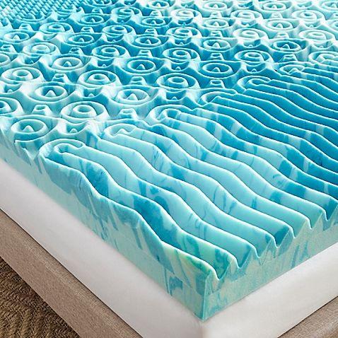 Broyhill 4 Inch Gellux Gel Memory Foam Mattress Topper In Blue