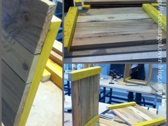Pouf rangement en bois de palette diy palettes recycler for Rangement en palette