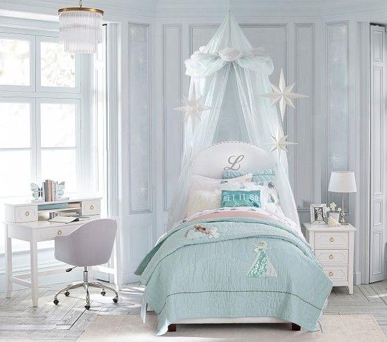 Oversized Princess Canopy In 2021 Frozen Girls Room Frozen Bedroom Frozen Themed Bedroom