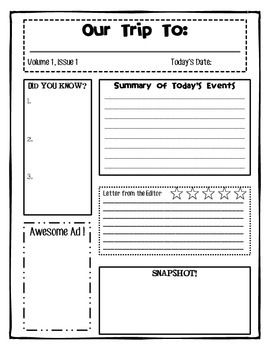Collection Field Trip Reflection Worksheet Photos - Studioxcess