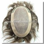 French Lace with PU Coating on temple side and back Mens Toupee Factory directly, low price, high quality, 20 years experiences in mens toupee industry, nice and professional service. Don't hesitate, contact now, you will obtain $30 discount for your
