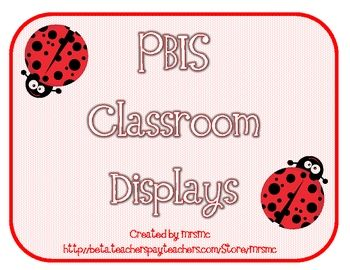 Cute ladybug PBIS display