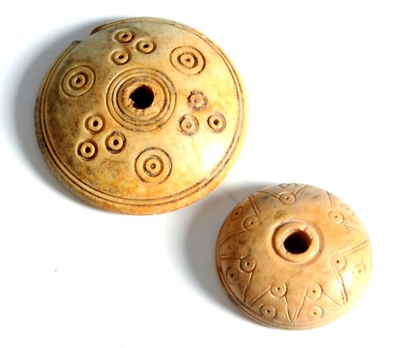 Roman Bone Spindle Whorls