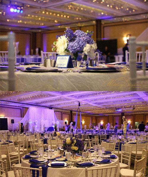 San Diego Ethnic Indian Wedding Planner Centerpiece White Blue Tablescape Travel Theme Inspired Lighting Sweetheart Table Setup Romantic Classy