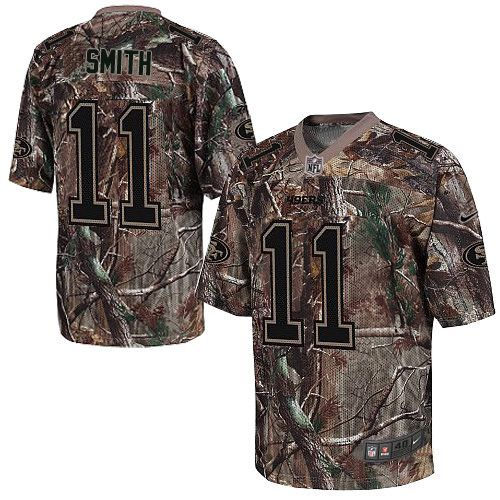 ... Mens Nike San Francisco 49ers 11 Alex Smith Elite Camo Realtree NFL  Jersey . ... c1919679c