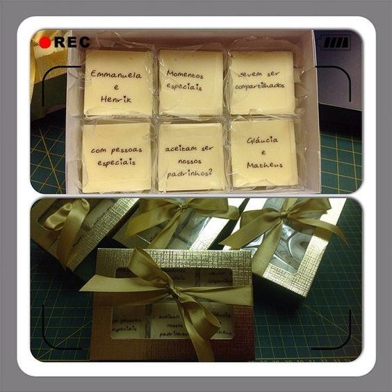 Caixa Convite Casamento / Padrinhos 6BB