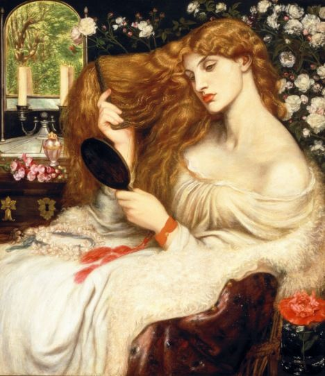 Dante Gabriel Rossetti, Lady Lilith, 1866–8, Delaware Art Museum, Samuel and Mary R. Bancroft Memorial 1935