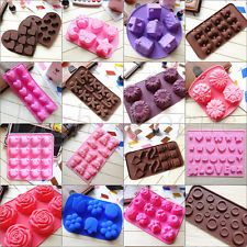 New Chocolate Cake Cookie Muffin Jelly Baking Silicone Bakeware Mould Mold 0024