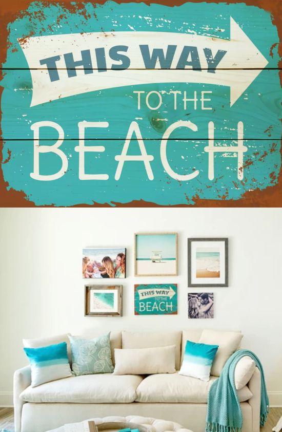 Beach This Way Signs Beach Signs Beach Signs Wooden Beach House Decor