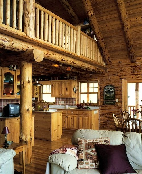 country homes interiors logs log cabins loft country home interiors ...