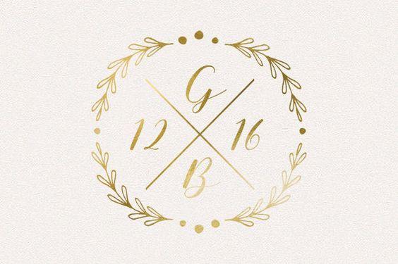 Wedding Monogram Wedding Logo DIY wedding von TheFabledPapery