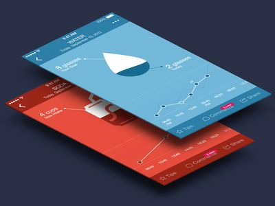 Dribbble - Water intake screen for Argus app by Tina Tavčar