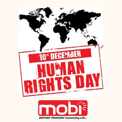 Speak Up & Stop Discrimination  Let's Celebrate The HUMAN RIGHTS DAY Together With Mobi,  Instant Freedom connecting Life …