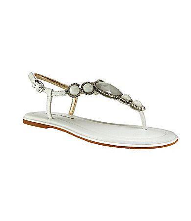 Antonio Melani Sabina Jeweled T-Strap Sandals | Dillards.com- wedding shoes?