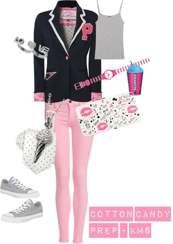 """Cotton Candy Prep"" by karalexislv on Polyvore"